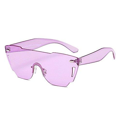 Huecos Pc Gafas Poligonal De JUNHONGZHANG Mujer De Sol Sol De Violeta Corte De Gafas Rosa Gafas De Mar zxt8q