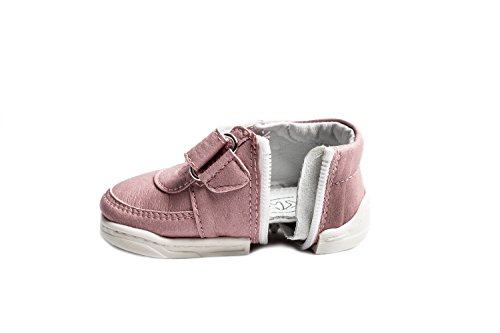 Happy Baby Zippy Shoes, Infant/Toddler, Boys Girls, First Walking Shoes, Unique Zipper Design (Age 6-12 Months (4.8 inches, US Size 4), Sneakers Pink)