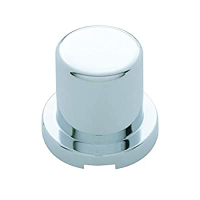 United Pacific Chrome Plastic Flat Top Nut Cover - Push-On (10 Pack), Various Sizes: Automotive