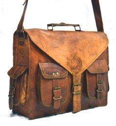 *GOATSTUFF* Vintage Style Handmade Messenger Briefcase Bag