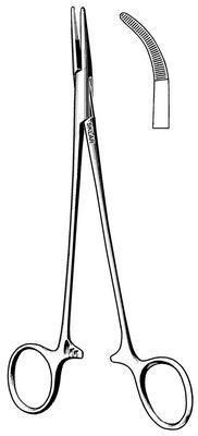 Sklar Instrument 50-1472 Adson Hemostatic Forceps, Curved, Half-Serrated Jaw, 7-1/4'' Length