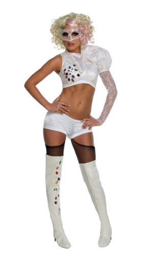 Adult Lady Gaga 2009 Vma White Performance Costume - Costume