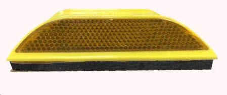 Rayolite 2-Way Yellow Peel-N-Stick Raised Pavement Marker 50