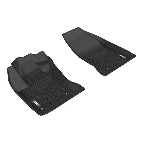 ARIES FA00511809 StyleGuard XD Black Custom Truck Floor Liners for Fiat 500X, 1st Row Only