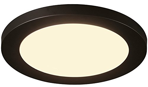 Cloudy Bay 12 inch Ceiling Light LED Flush Mount,17W Dimmable,3000K Warm White,1100lm 120W Incandescent Equivalent,Oil Rubbed Bronze Finish