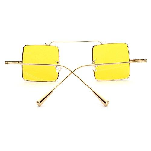 de Mujer sol Steampunk Square Vintage Hombre Gafas MEIHAOWEI C5 vFxqwRSR