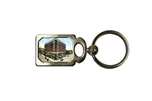 The Eau Claire, Eau Claire, Wi One Side Framed Metal Key Chain from Style in Print