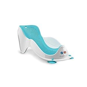 Angelcare - Fit - Transat de Bain pour Bébé - Ergonomique et Sécurisant - 0 à 6 Mois - Bleu 28