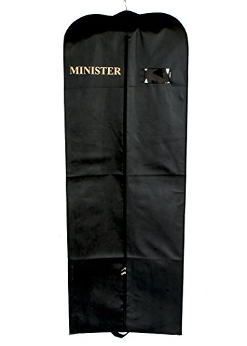 CLERGY GARMENT BAG (MINISTER) FOR ROBES (BLACK) (Garment Bags For Robes)