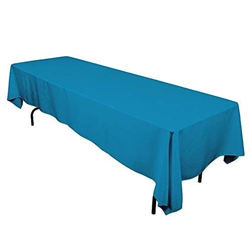 GlaiEleh Rectangle Tablecloth - 60 x 126 Inch -Nave Blue Rectangular Table Cloth for 6 Foot Table in Washable Polyester - Great for Buffet Table, Parties, Holiday Dinner, Wedding & More