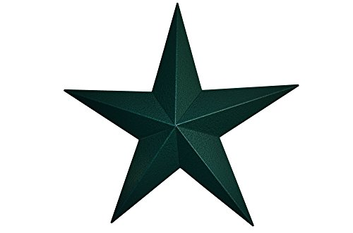 Cheap AMISH WARES 16 Inch Heavy Duty Metal Barn Star Painted Hammered Green.