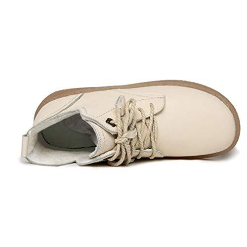 Al Mujer Yan Libre De Oxford Plataforma Aire Madre 38 Antideslizante Botas Para Parte Cuero Desnudas beige Confort Inferior Zapatos Caminar qCEfZxwnC