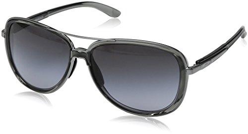 Oakley Women's Split Time Aviator Sunglasses, Onyx, 58.2 mm ()