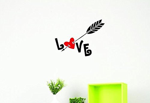 20 Inches X 30 Inches Color Multi 20 x 30 Design with Vinyl US V JER 3319 3 Top Selling Decals Love Arrow Wall Art Size
