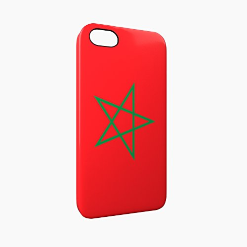 Flag of Morocco Glossy Hard Snap-On Protective iPhone 5 / 5S / SE Case Cover