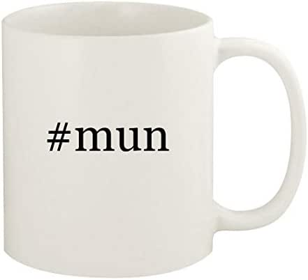 #mun - 11oz Hashtag Ceramic White Coffee Mug Cup, White