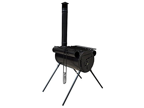 USA Premium Store Portable Military Camping Steel Wood Stove Tent Heater for Fishing Cooking BBQ