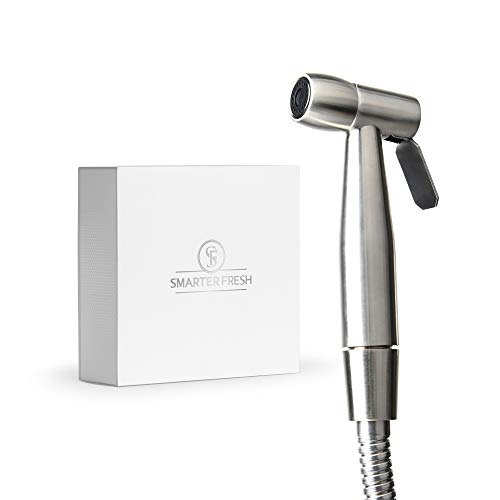SmarterFresh Ease Cloth Diaper Sprayer - Superior Splatter-Proof Stainless Steel Diaper Sprayer Cleans The Messiest Cloth Diapers - Complete Diaper Washer Hand Held Bidet Sprayer for Toilet