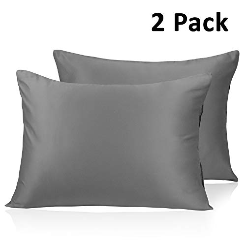 Amazon.com: Adubor Silk Satin Pillowcase 2 Pack Silky