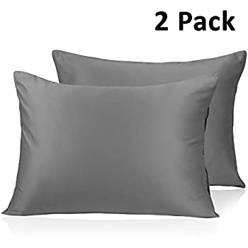 Amazon Com Adubor Silk Satin Pillowcase 2 Pack Silky