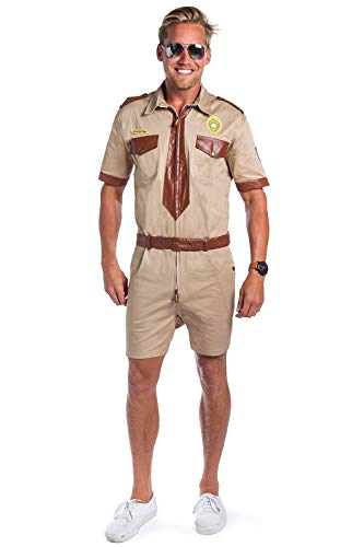 Tipsy Elves Funny Policer Office Costume - Cop Costume for Halloween: XX-Large Brown -