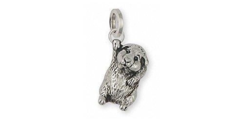 Guinea Pig Jewelry Sterling Silver Guinea Pig Charm Handmade Piggie Jewelry GP5-C