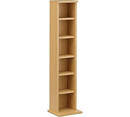 DVD U0026 CD Tower Storage Unit  Beech Effect