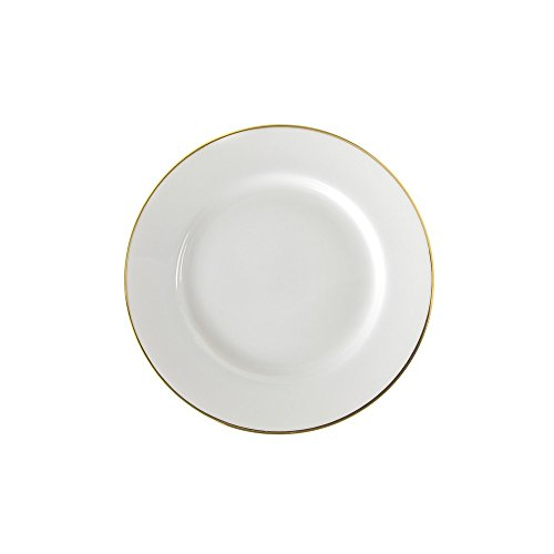 "10 Strawberry Street Gold Line 6.75"" Bread & Butter Plate, Set of 6, White/Gold"