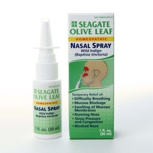 Seagate Products Olive Leaf Homeopathic Nasal Spray 1 ounce