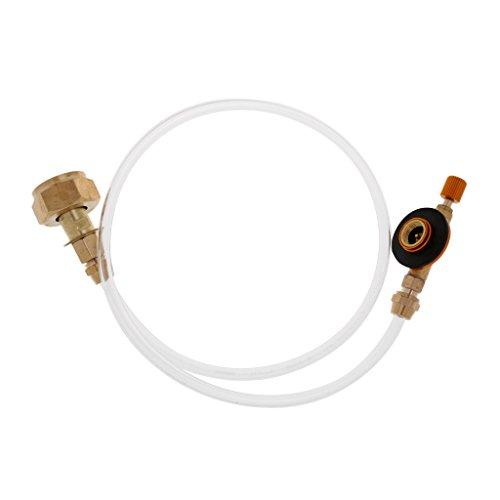MagiDeal Gas de Exterior Propano Tanque Adaptador de Cilindro Recargable Plano Coupler Válvula Inflable - Estufa de Camping...