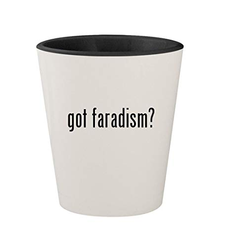 got faradism? - Ceramic White Outer & Black Inner 1.5oz Shot Glass ()
