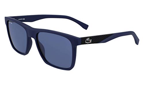 (Lacoste Men's L900s Rectangular Sunglasses, Blue Matte, 56.02 mm )