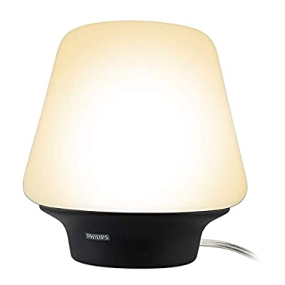 Philips Hue White Ambiance Wellness Dimmable LED Smart Table Lamp (Compatible with Alexa Apple HomeKit and Google Assistant) (Certified Refurbished)