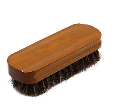 S- LOVE Mahogany brush horse hair brush flip fur shoes cleaning brush shoes except dust brush