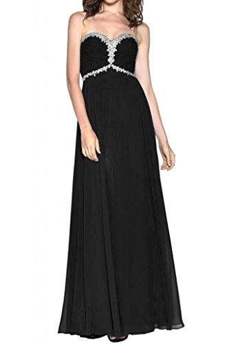 Estrellas de la gasa delgada en forma de corazón de la Toscana de novia por la noche vestido largo fiesta vestidos de fiesta en vestidos de bola negro