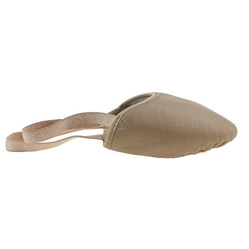 Sole MSMAX Eclipse Half Half Shoe Sole Ballet Dance Brown Leather MSMAX r6qIw7UWT6