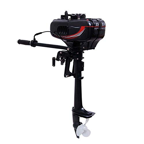 rBay 2 Stroke 3.5HP, Petrol Engine Water Cooling System Outboard Motor Boat Engine Outboard Boat Motor for Inflatable Fishing Boat ()