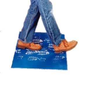 24'' x 36'' - Blue - 1 Box @ 4 Mats by 30 Sheet Peelable - Sticky / Tacky Walk Off Mat