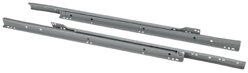 - Steelex D4324 20-Inch Euro-Style Self-Closing Drawer Slides, Grey