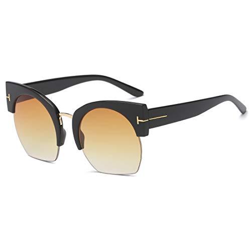 Hombres Black Frame Lens conducción Purple Lens Sol Color Black Sakuldes de protección de para de de Gafas Frame 100 UV400 Gafas Tea Sol BHxORwxq