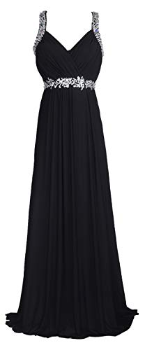(conail Coco Women's Elegant Royal Formal Dresses Wear Long Wedding Party Gowns (XXLarge, 30Black))