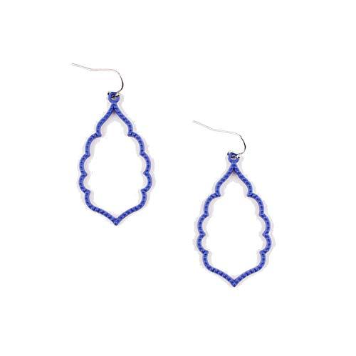 Matte Colored Frame Earrings for Women Trendy Jewelry Fashion Gold Earrings ()
