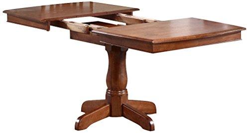 Iconic Furniture Boat Shape Dining Table, 36″ x 48″ x 60″, Cinnamon Finish