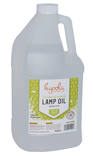 (Citronella Tiki Torch Oil, 1 Gallon - Smokeless Insect and Mosquito Repellent Scented Paraffin Fluid for Indoor and Outdoor Lamp, Lantern and Oil Candle Use - by Hyoola)