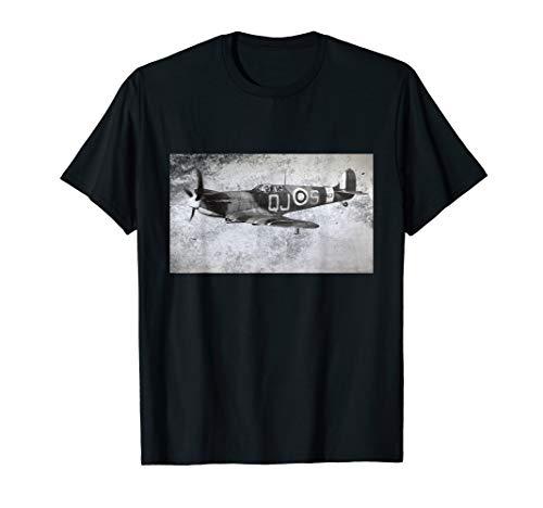 Supermarine Spitfire Aircraft Fighter T Shirt World War II
