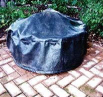 60'' Black Vinyl Fire Pit Cover by Fire On Glass
