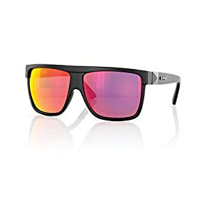 Carve Rocker Sunglasses Unisex Matt Black Red Iridium