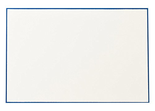 Crane Regent Blue Bordered Correspondence Card, Ecru (CC3717)