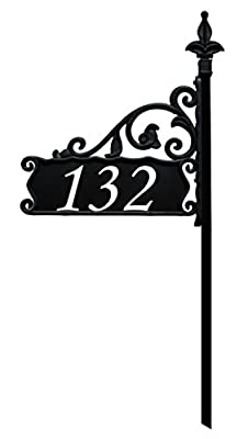 Address America Boardwalk Reflective 911 Home Address Sign for Yard - Custom Made Address Plaque - Wrought Iron Look Exclusively