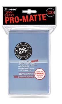 Ultra Pro - Standard Pro Matte Card Sleeves 100 Pack - Clear
